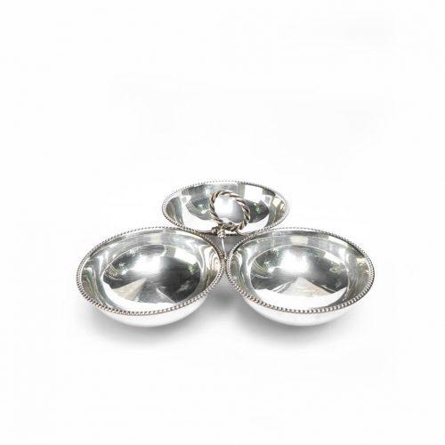 Antique Silver Snack Bowl / アンティーク シルバー 925 スナック ボウル トレイ インテリア雑貨