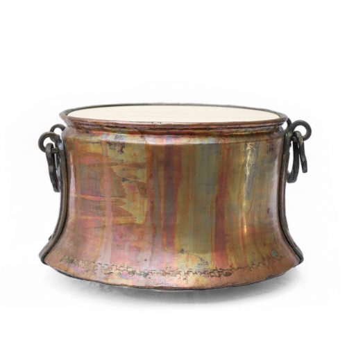 アンティーク 銅 釜 ポットカバー トルコ インテリア Antique Copper Cauldron Pot 43cm