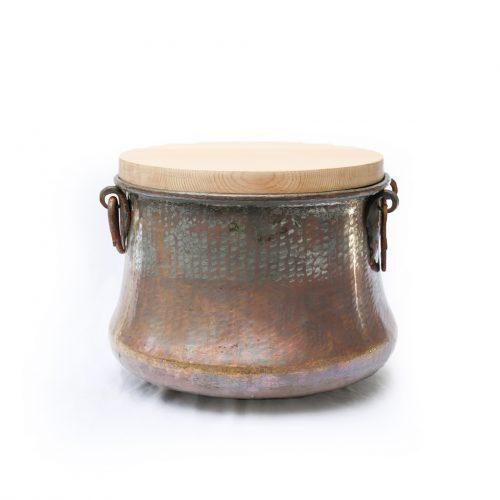 アンティーク 銅 釜 ポットカバー トルコ インテリア Antique Copper Cauldron Pot 34cm