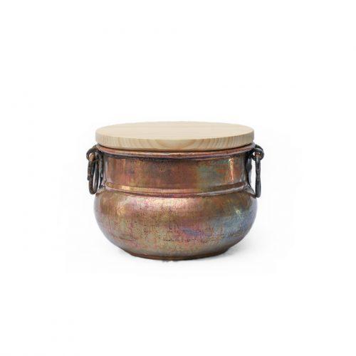 アンティーク 銅 釜 ポットカバー トルコ インテリア Antique Copper Cauldron Pot 33cm