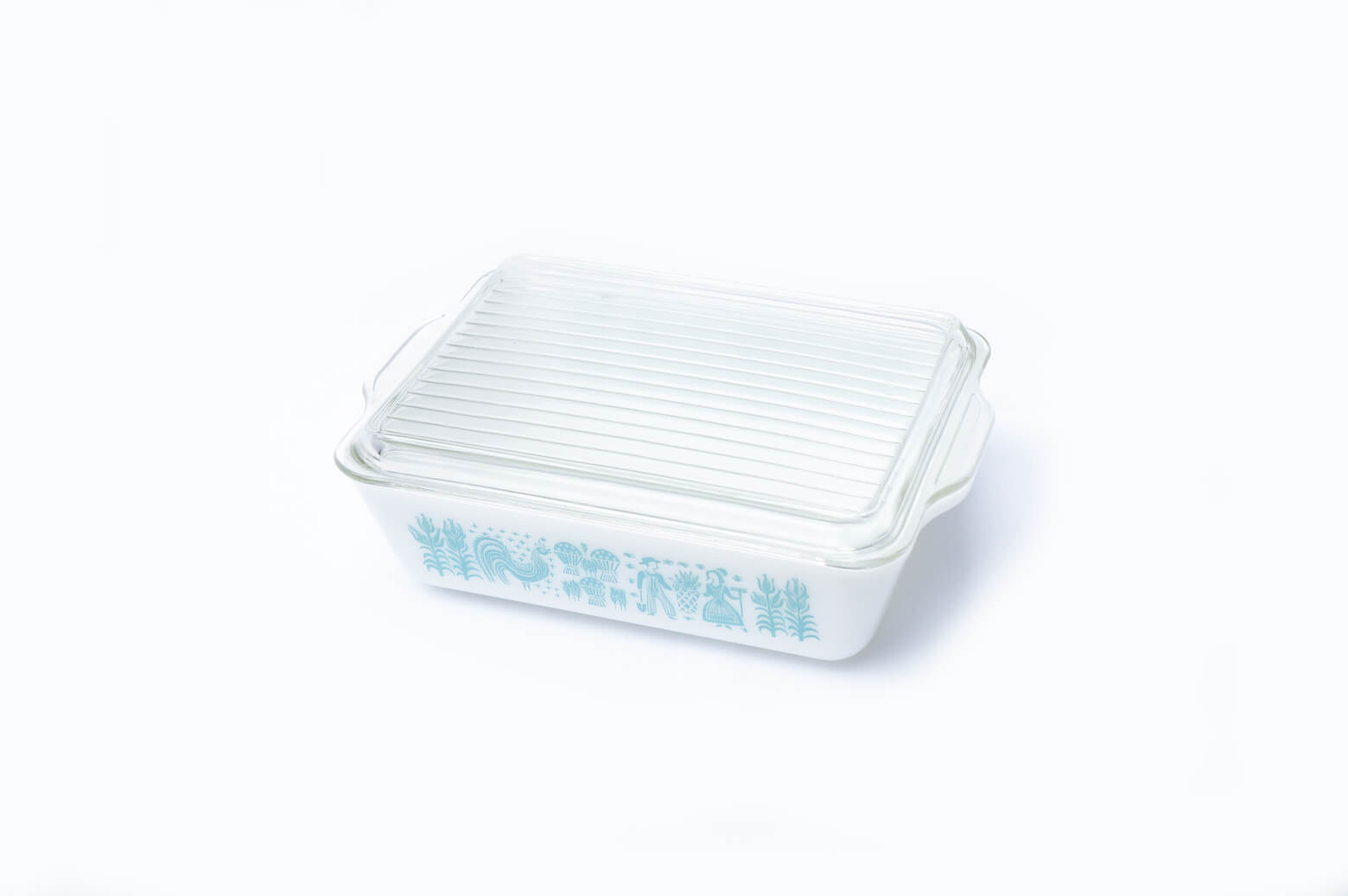 OLD PYREX BUTTER PRINT Refrigerator L size MADE IN USA / オールドパイレックス バター プリント レフリジレーター Lサイズ アメリカ製