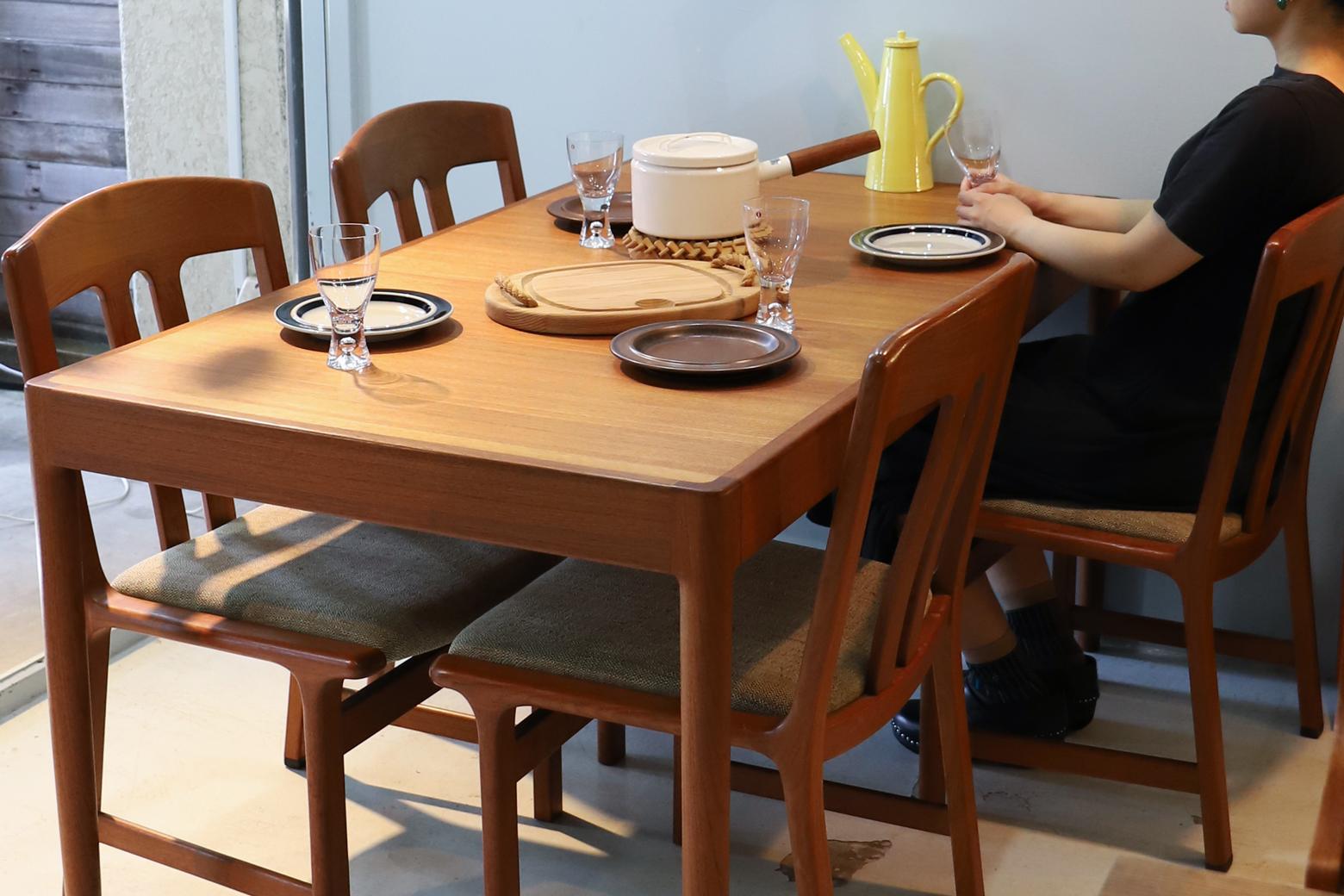 Aobayashi Seisakujo Extension Dining Table/青林製作所 エクステンション ダイニングテーブル チーク材 ジャパンヴィンテージ 北欧デザイン