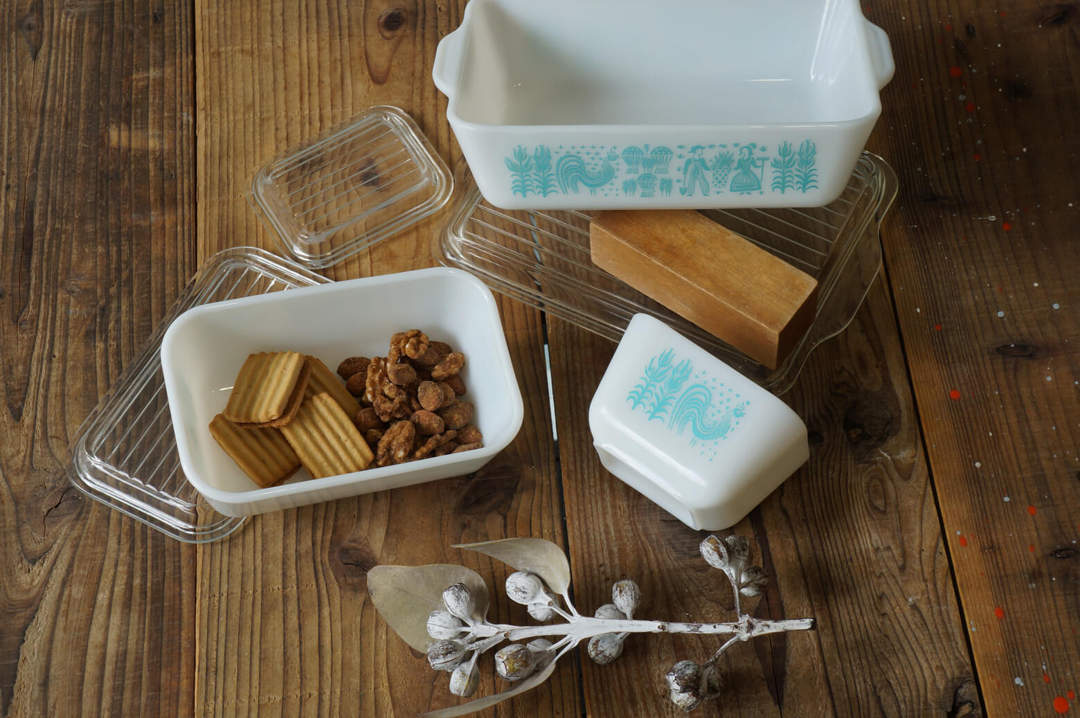 OLD PYREX BUTTER PRINT pattern Table Ware MADE IN USA / オールドパイレックス バター プリント テーブルウェア アメリカ製