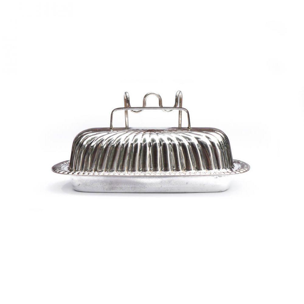 England Vintage Butter Dish Silverplate/イングランド ヴィンテージ バターディッシュ シルバープレート アンティーク雑貨