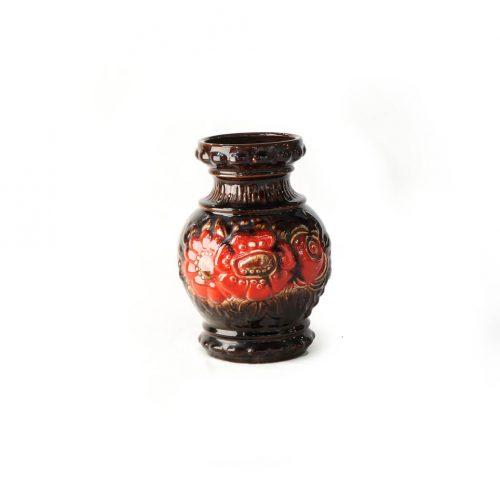 W.Germany Vintage Scheurich Vase Fat Lava/西ドイツ ヴィンテージ シューリッヒ ベース ファットラヴァ 花瓶 インテリア