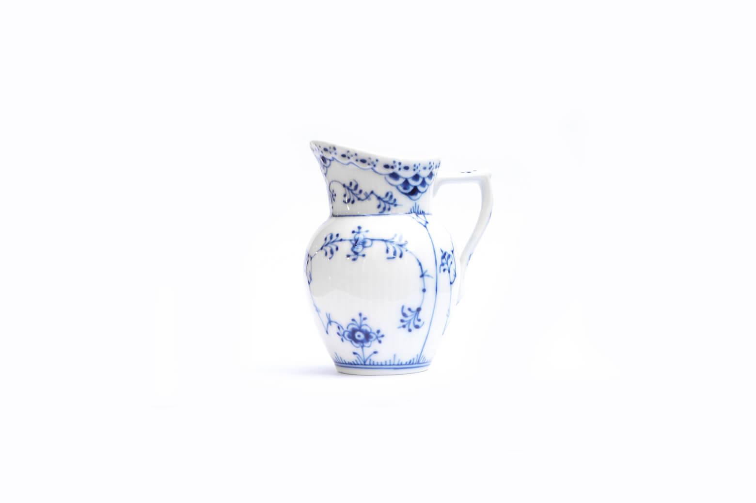 ロイヤルコペンハーゲン ブルーフルーテッド ハーフレース クリーマー 北欧食器/Royal Copenhagen Blue Fluted Half Lace Creamer