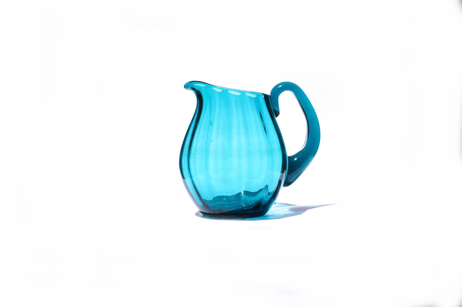 Scandinavian Glass Pitcher/ガラス ピッチャー フラワーベース ターコイズブルー 北欧雑貨 インテリア
