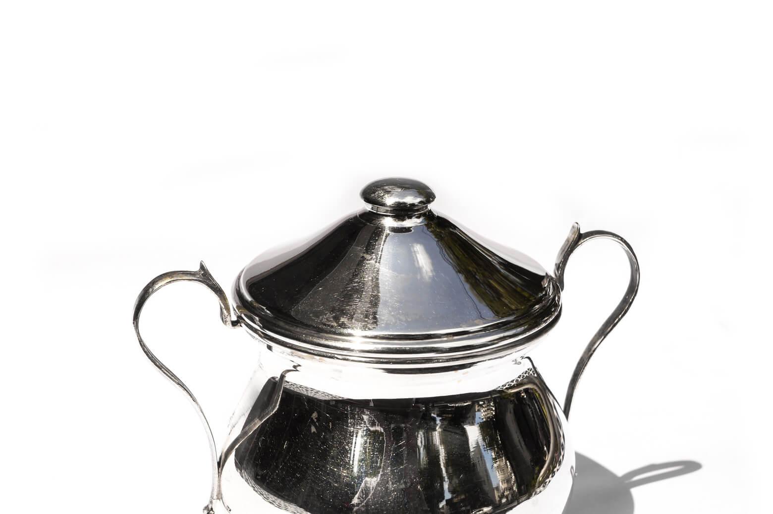Euro Vintage Silver Sugar Pot/ヨーロッパ ヴィンテージ シルバー800 シュガーポット 銀食器 アンティーク雑貨
