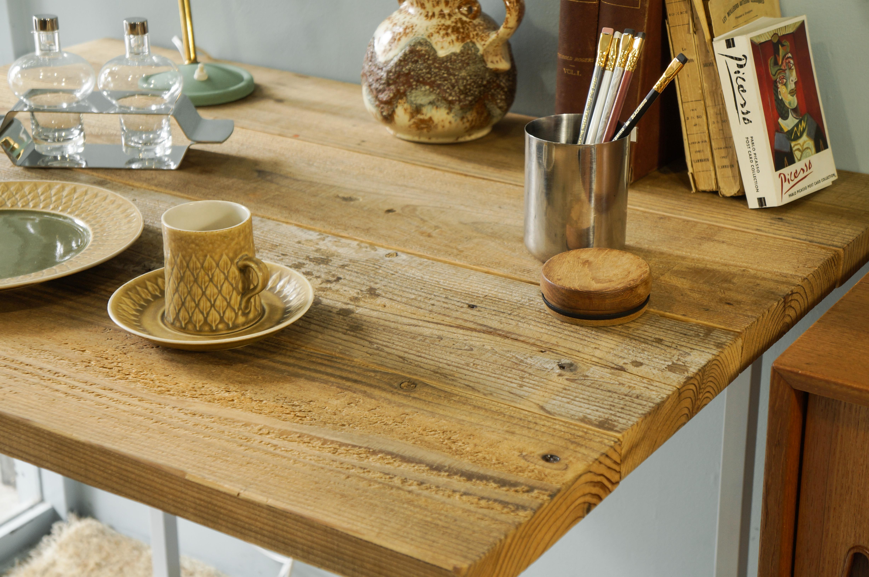 Old Wood Brooklyn Style Dining Table/古材 ブルックリンスタイル ダイニングテーブル デスク グレー
