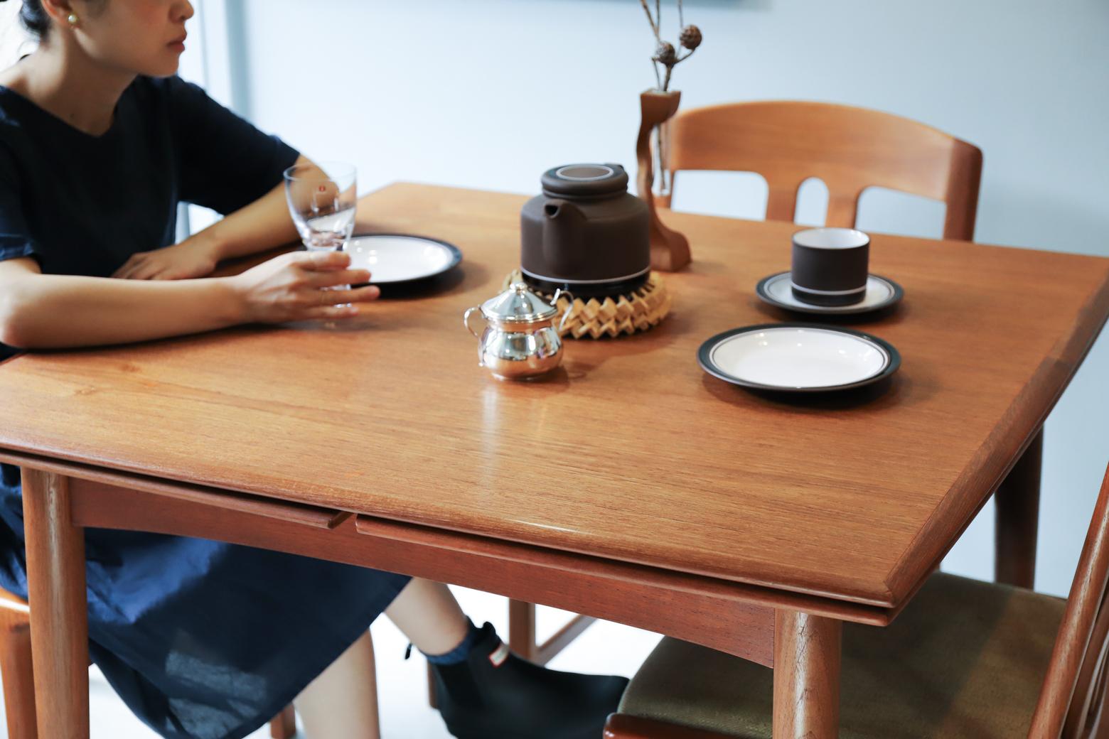 Danish Vintage Extending Dining Table/デンマーク ヴィンテージ エクステンション ダイニング テーブル 北欧家具