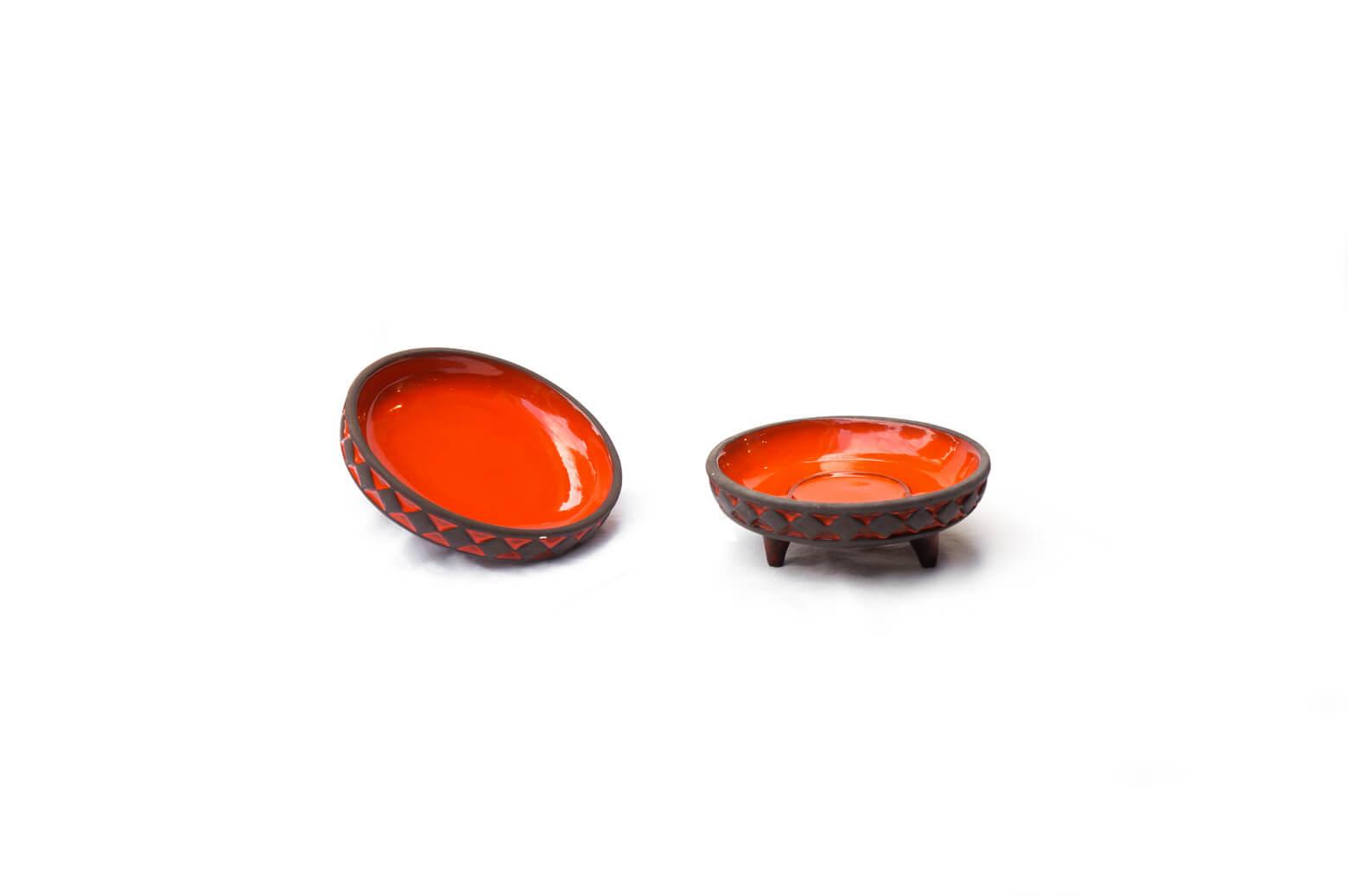 Frank Keramik Denmark orange pottery / フランク ケラミック デンマークヴィンテージ 北欧食器