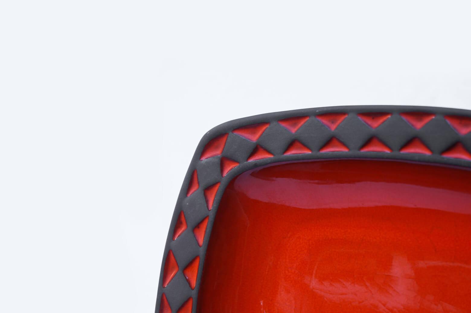 Frank Keramik Denmark Square Tray / フランク ケラミック スクエア トレイ プレート デンマークヴィンテージ 北欧食器
