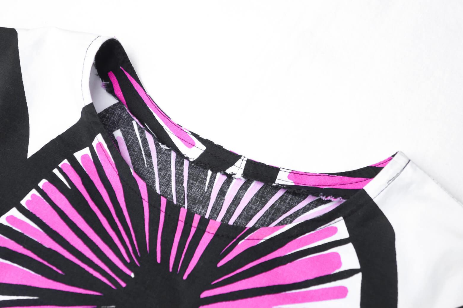 Marimekko Appelsiini Tunic One-piece Hand Made/マリメッコ アッペルシーニ チュニック ワンピース ハンドメイド フィンランド 北欧 古着