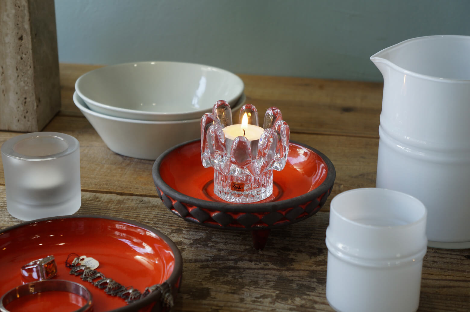 Frank Keramik Denmark orange pottery / フランク ケラミック デンマークヴィンテージ 陶器
