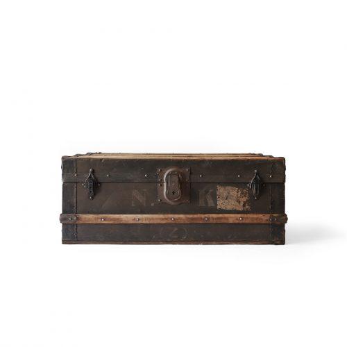 アンティーク トランク 船舶用 インテリア チェスト ボックス/Antique Ship's Trunks