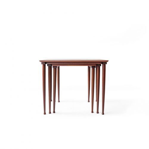 Danish Vintage Møbelintarsia Nesting Table No.22/デンマーク ヴィンテージ ネストテーブル チーク材 北欧家具