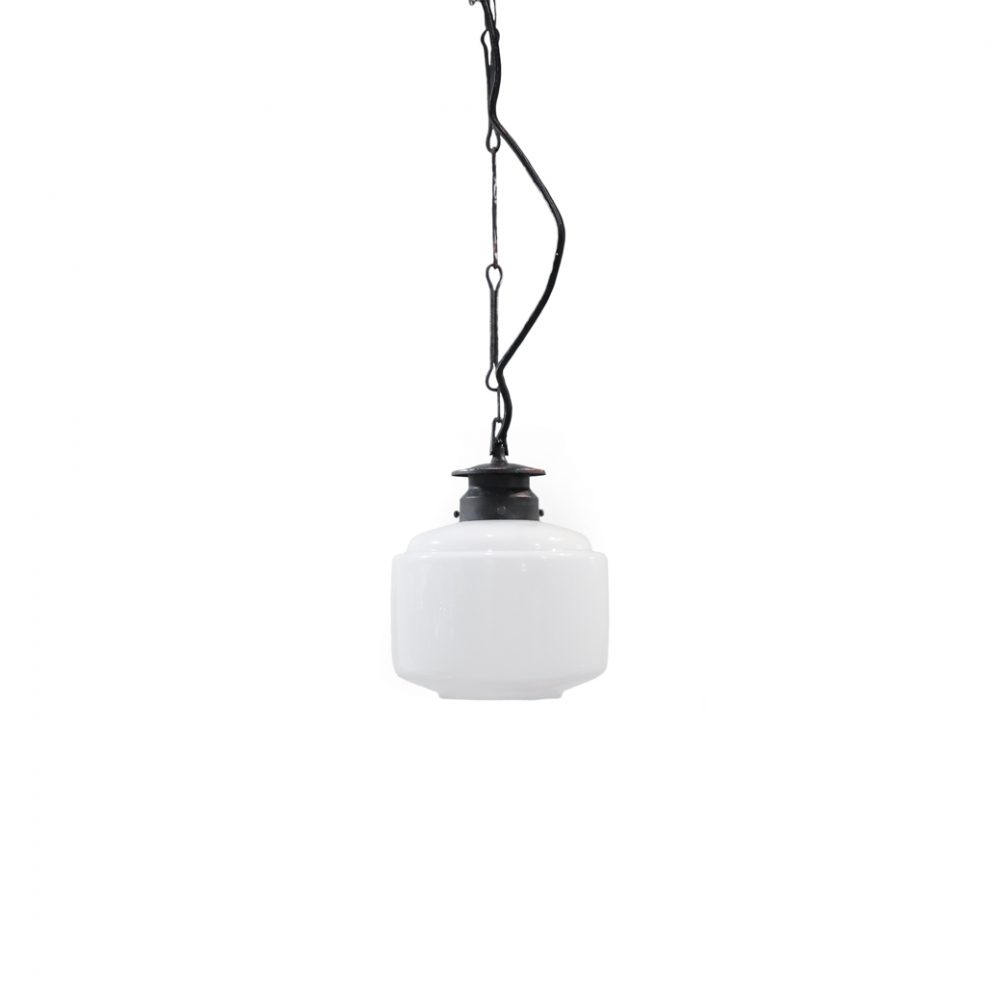 Japanese Modern Milk Glass Pendant Light/ミルクガラス ペンダントライト 乳白 照明 和モダン 昭和レトロ