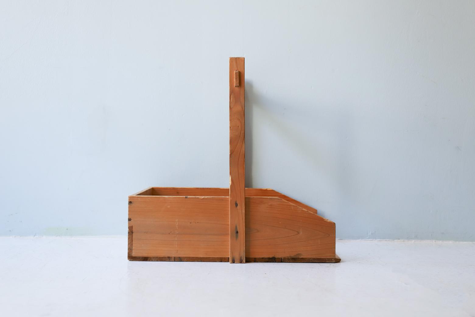 アンティーク 木製 ちりとり 手作り 古道具 昭和 農耕具/Vintage Wooden Dustpan Handmade 2