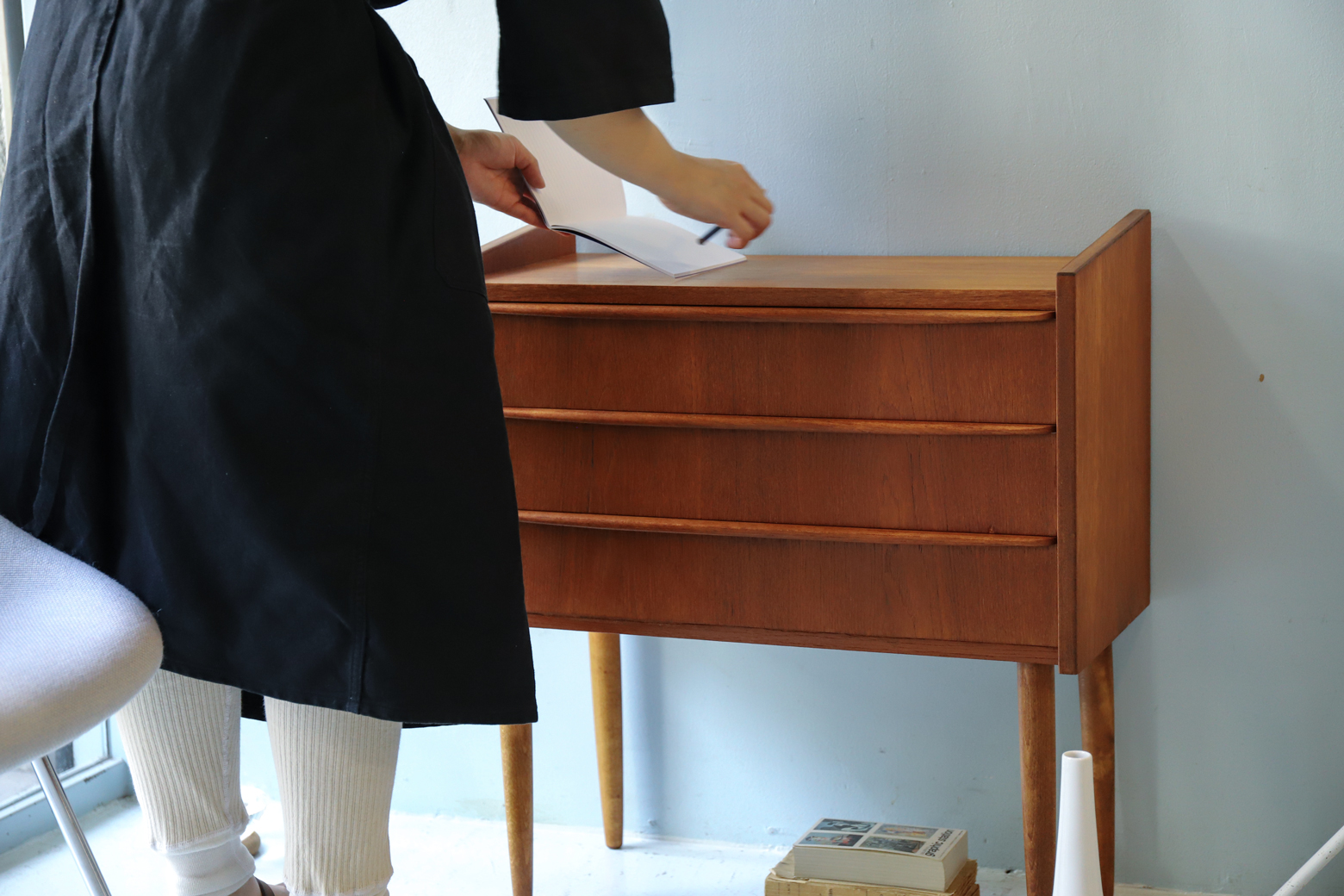Danish Vintage Teak Wood Side Chest/デンマーク ヴィンテージ チーク材 サイドチェスト 北欧家具
