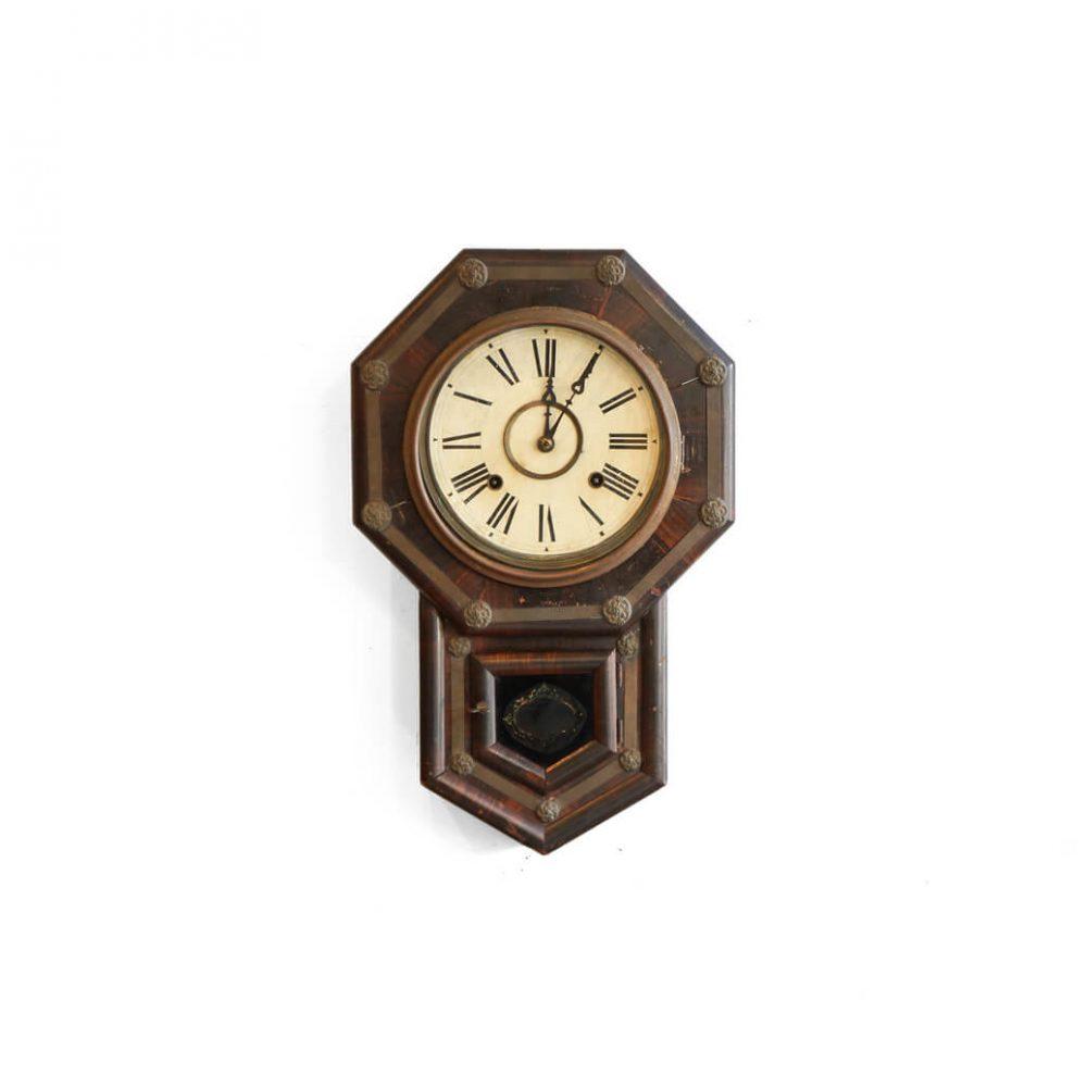 Japan Antique Wall Clock / 時盛舎 林時計 八角 ボンボン 掛時計 アンティーク