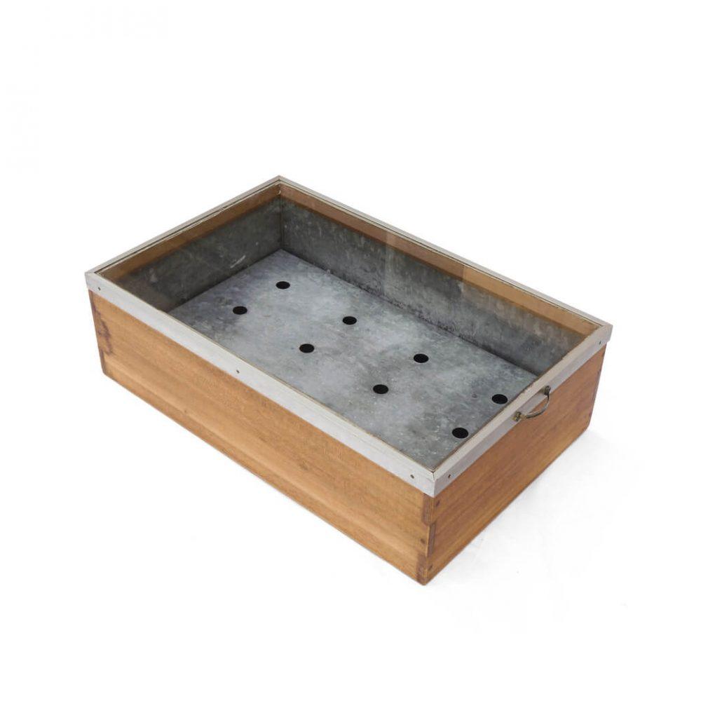 Retro Wooden Glass Tinplate Showcase/昭和レトロ 木箱 ショーケース ブリキ ボックス 古道具 ヴィンテージ 2