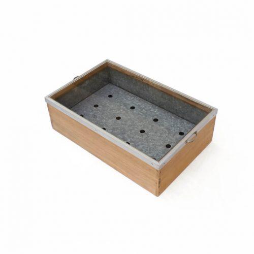 Retro Wooden Glass Tinplate Showcase/昭和レトロ 木箱 ショーケース ブリキ ボックス 古道具 ヴィンテージ 1
