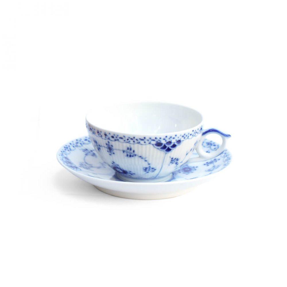 Royal Copenhagen Blue Fluted Half Lace Tea Cup and Saucer/ロイヤルコペンハーゲン ブルーフルーテッド ハーフレース ティーカップ&ソーサー 北欧食器 3