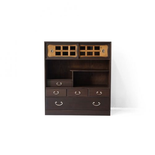 Japanese Vintage Small Wooden Shelf/茶箪笥 レトロ 和モダン シェルフ 時代家具 収納