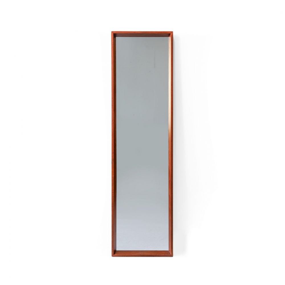 Danish Vintage Jansen Spejle Teakwood Wall Mirror/デンマーク ヴィンテージ ウォールミラー 壁掛け チーク材 北欧インテリア