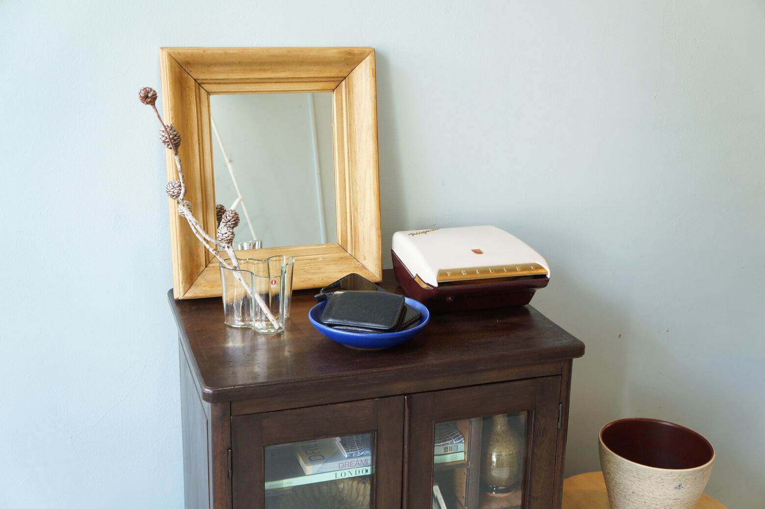 Vintage Glass Record Rack/ヴィンテージ ガラスキャビネットレコードラック 飾り棚