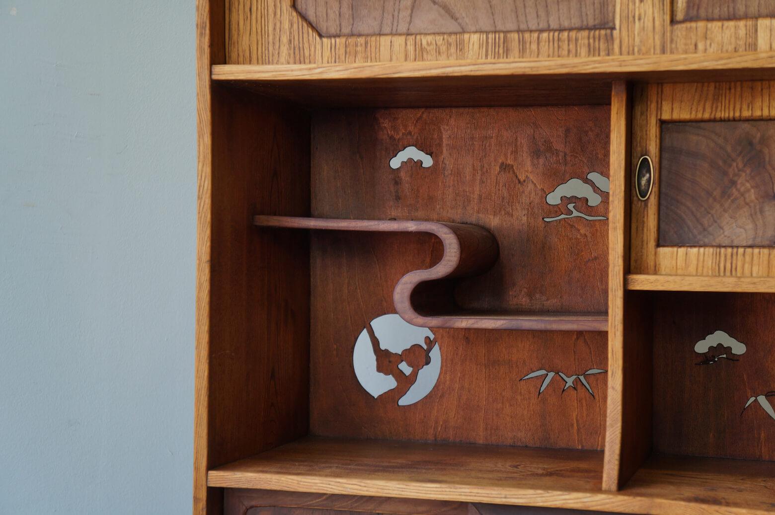 Japanese Retro Wooden Shelf