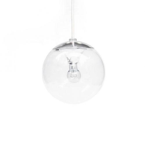 National Clear Glass Ball Pendant Light/ナショナル ガラスボール ペンダントライト レトロ 照明