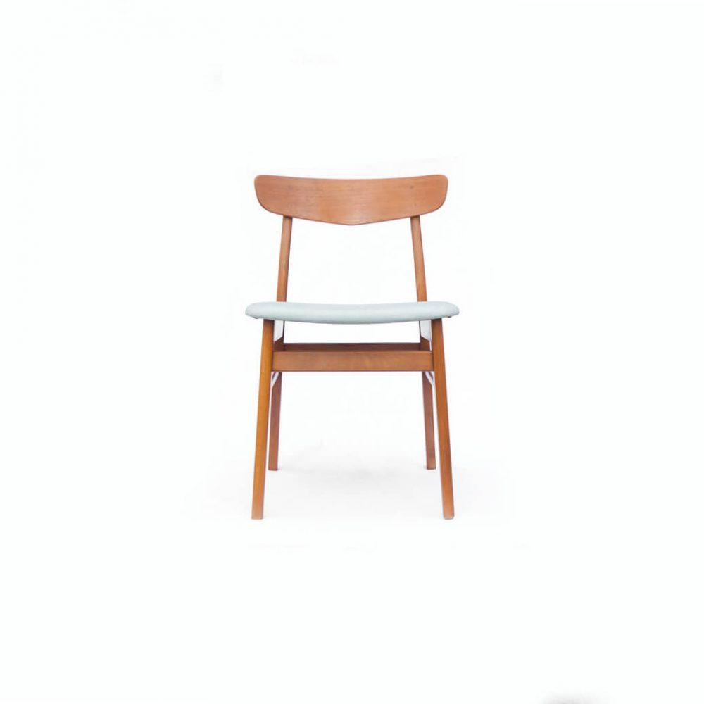 Danish Farstrup Møbelfabrik Dining chair/デンマーク ヴィンテージ ダイニングチェア グレー 1