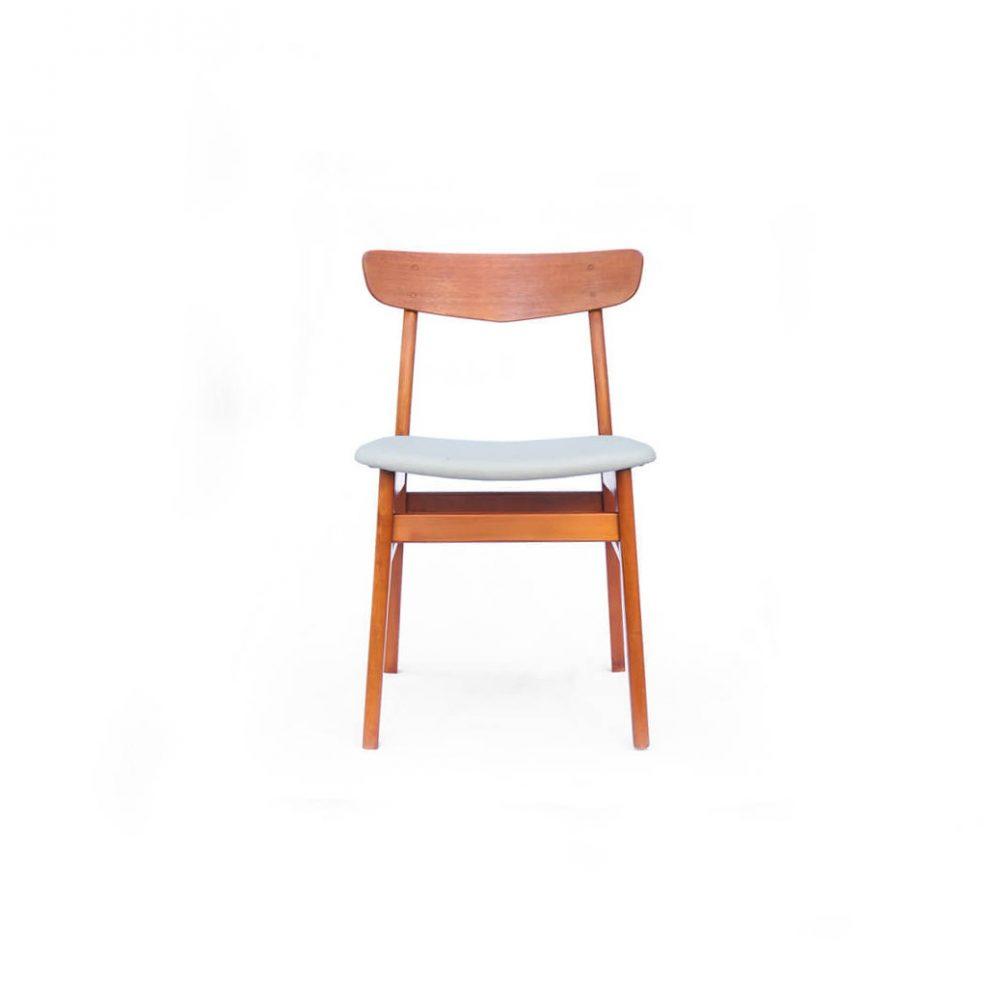 Danish Farstrup Møbelfabrik Dining chair/デンマーク ヴィンテージ ダイニングチェア グレー 2