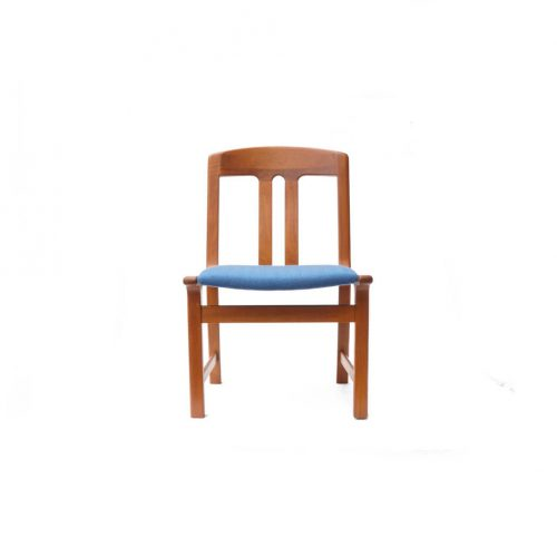 Danish Vintage L.Olsen&Son Dining Chair Re-Covering Herringbone Blue/デンマーク ヴィンテージ L.オルセン&サン ダイニング チェア 北欧家具 ヘリンボーン ブルー