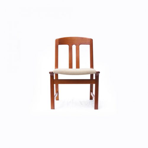 Danish Vintage L.Olsen&Son Dining Chair Re-Covering Beige/デンマーク ヴィンテージ L.オルセン&サン ダイニング チェア 北欧家具 ベージュ
