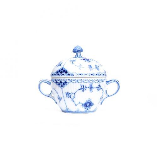Royal Copenhagen Blue Fluted Half Lace Sugar Pot/ロイヤルコペンハーゲン ブルーフルーテッド ハーフレース シュガーポット 北欧食器