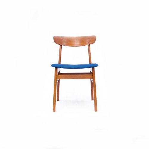Danish Farstrup Møbelfabrik Dining chair/デンマーク ヴィンテージ ダイニングチェア ブルー 1