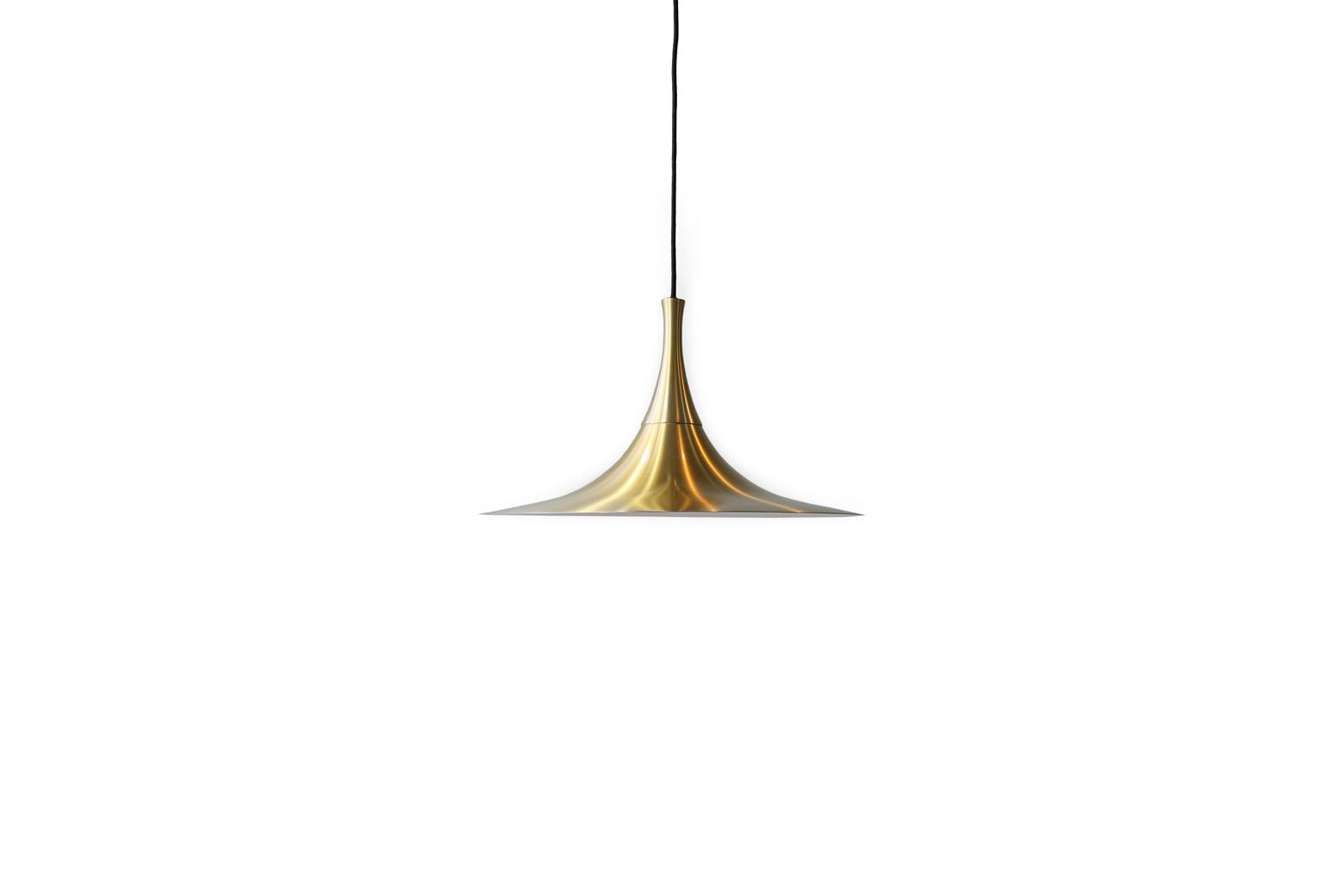 Danish vintage Trumpet Pendant Lamp/デンマークヴィンテージ ゴールドプレート ペンダントライト