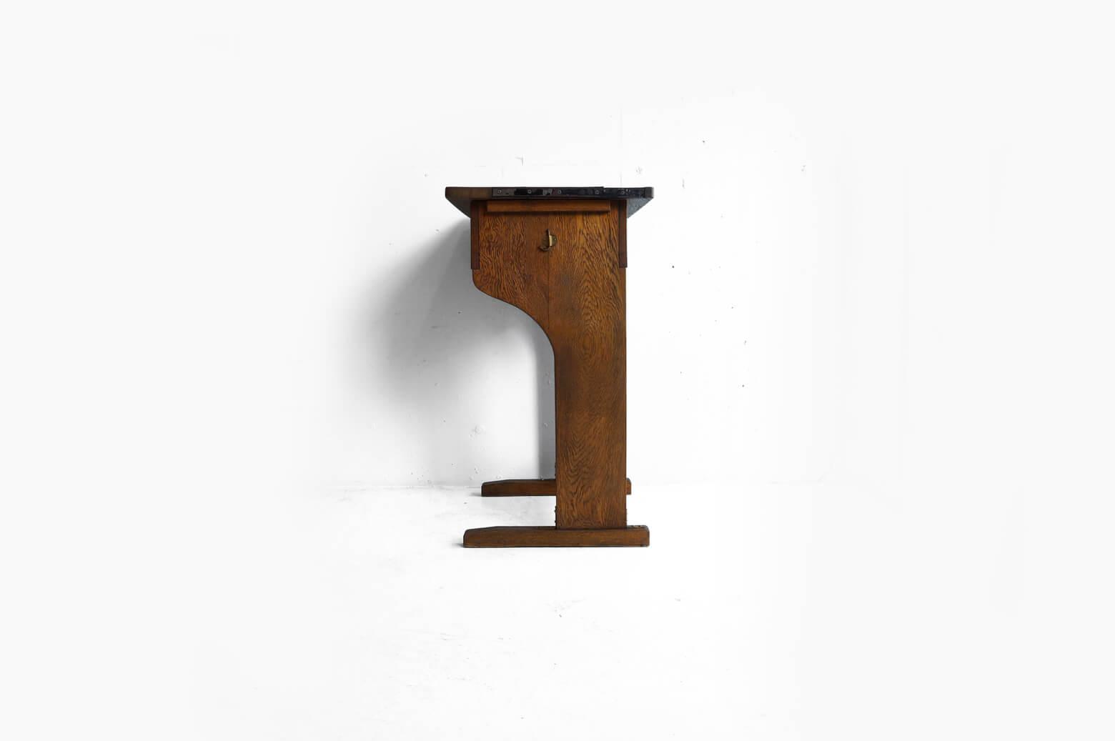 Vintage Wooden School Desk/ヴィンテージ スクールデスク 学校机 レトロ テーブル 3