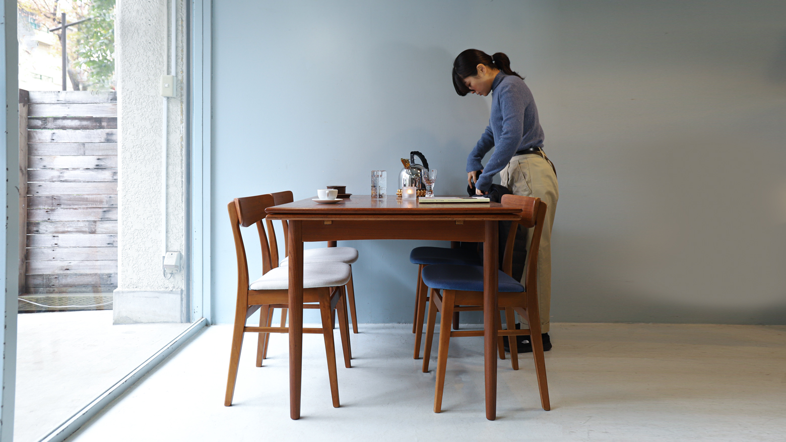 Danish Vintage Extension Dining Table/Chair