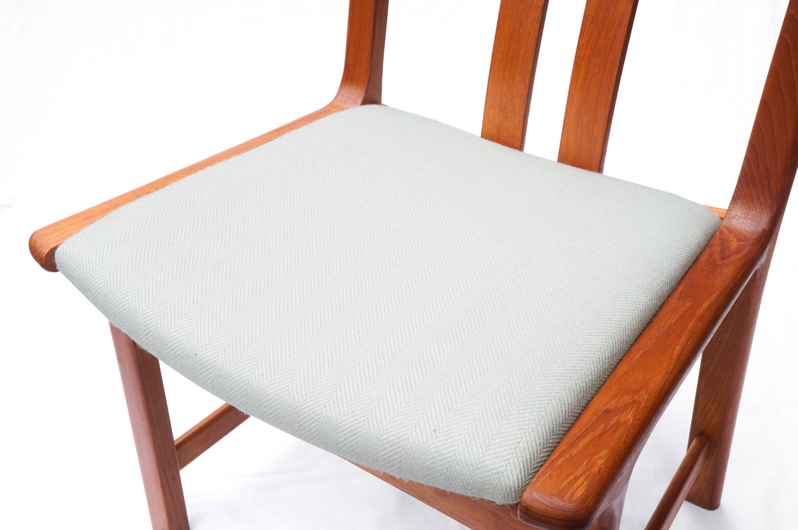 Danish Vintage L.Olsen&Son Dining Chair Re-Covering Herringbone Light Gray/デンマーク ヴィンテージ L.オルセン&サン ダイニング チェア 北欧家具 ヘリンボーン ライトグレー