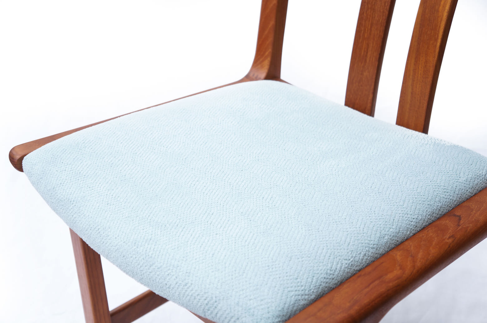 Danish Vintage L.Olsen&Son Dining Chair Re-Covering Light Blue/デンマーク ヴィンテージ L.オルセン&サン ダイニング チェア 北欧家具 ライトブルー
