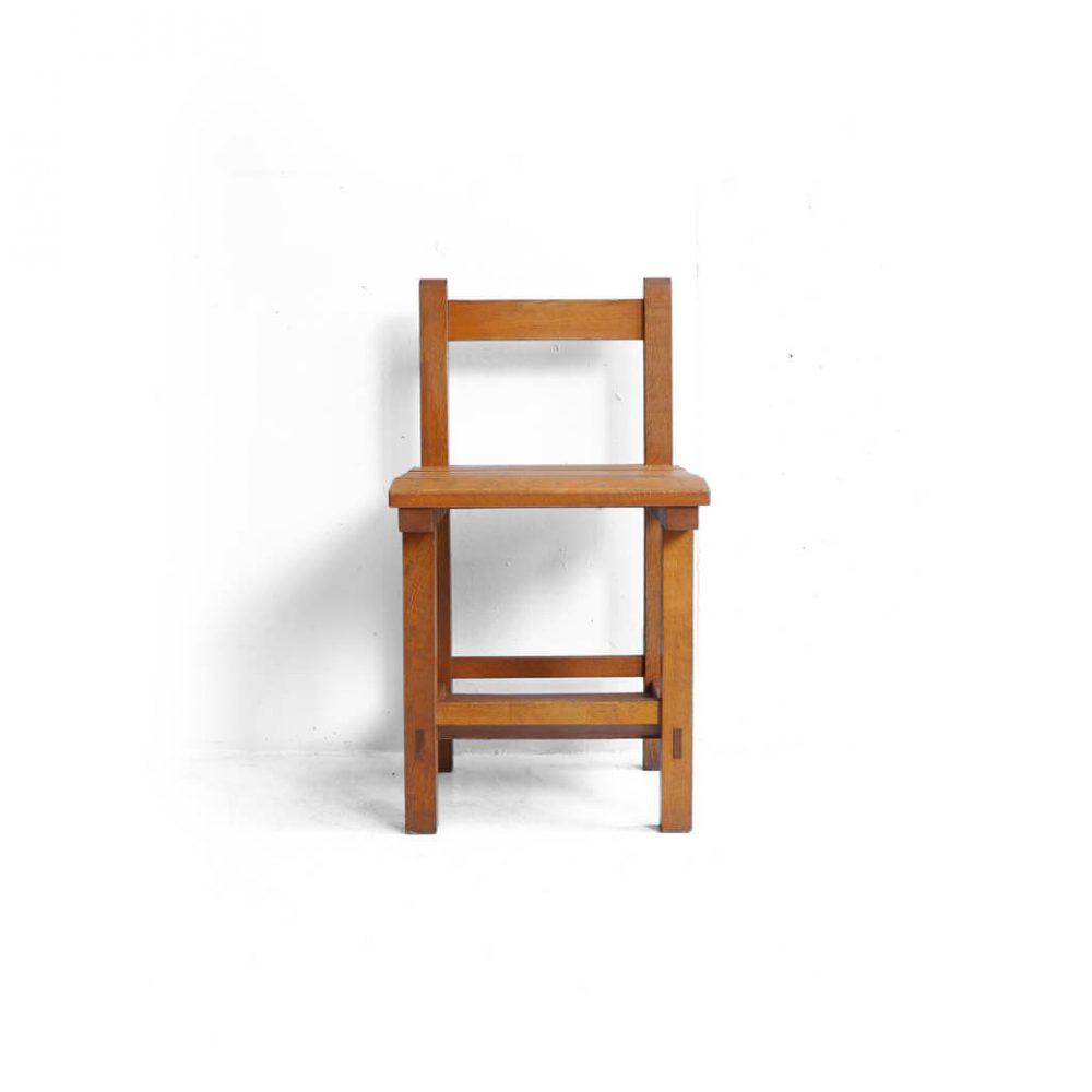 Vintage Wooden School Chair/ヴィンテージ スクールチェア 学校椅子 レトロ 3