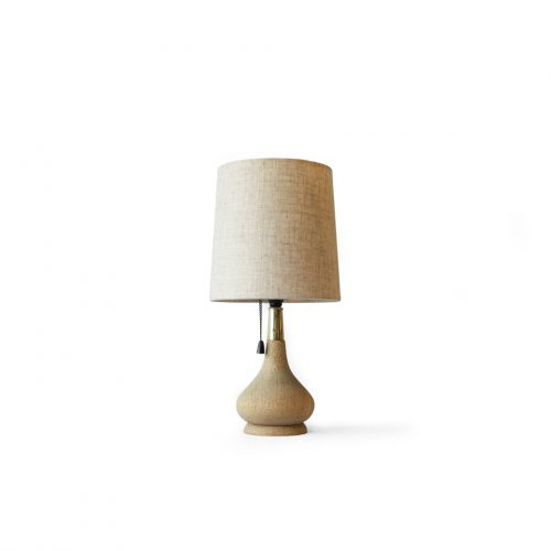 Scandinavian Vintage Wooden Vase Table Lamp/北欧ヴィンテージ テーブルランプ 照明 オーク材 インテリア雑貨