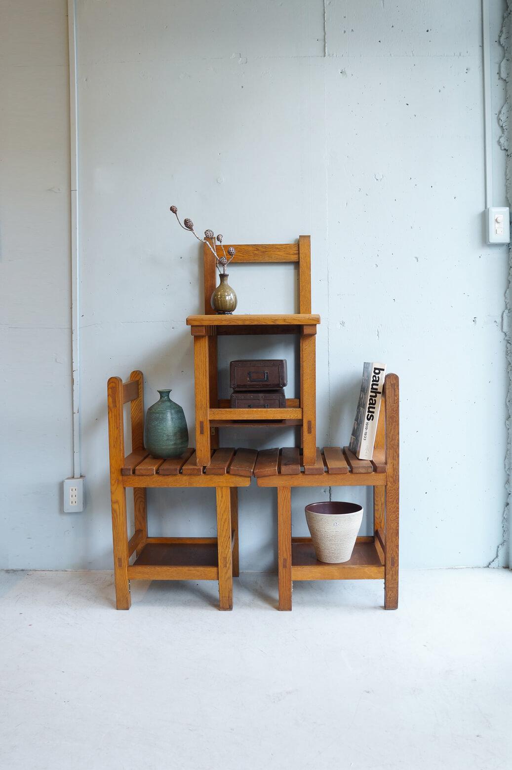 Vintage Wooden School Chair/ヴィンテージ スクールチェア 学校椅子 レトロ