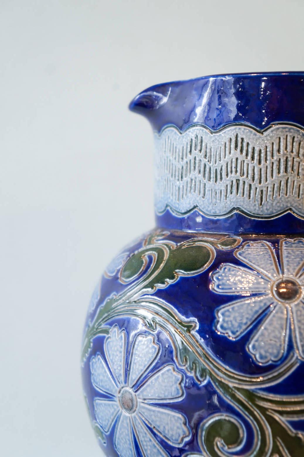 France Betschdorf Pottery Paul Schmitter Pitcher/フランス ベッチドルフ焼き ピッチャー 水指し 花瓶 陶器