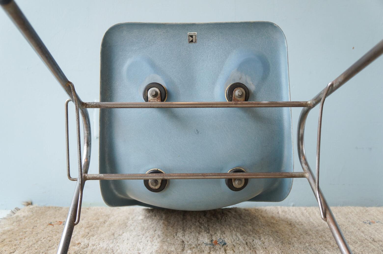 KOTOBUKI Stacking Chair FRP Light Blue/コトブキ スタッキングチェア レトロ ヴィンテージ ライトブルー