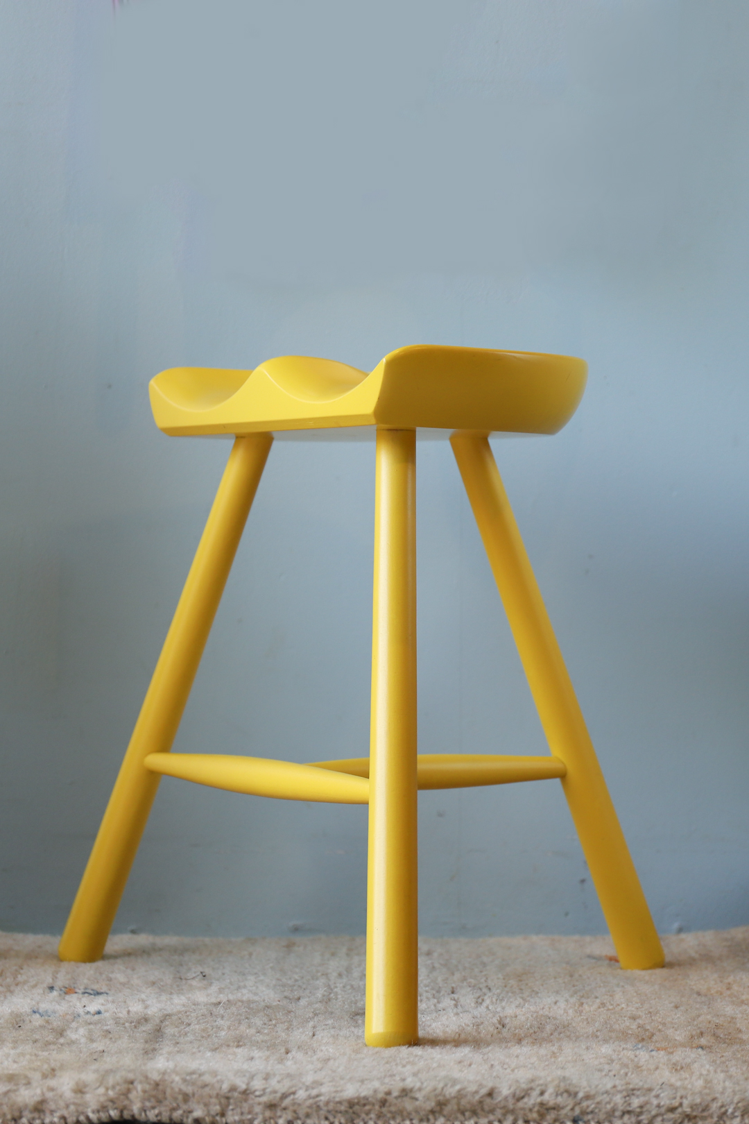 werner Shoemaker Chair No.49 made in Denmark/ワーナー シューメーカーチェア カラー イエロー スツール デンマーク 北欧家具