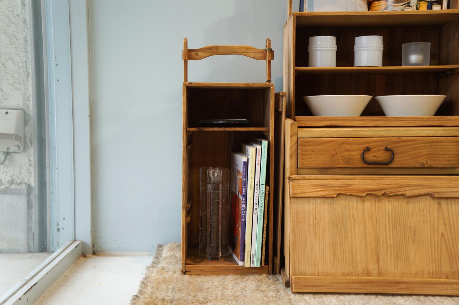 Japan Vintage Wooden Carrying Box OKAMOCHI/ジャパン ヴィンテージ おかもち レトロインテリア